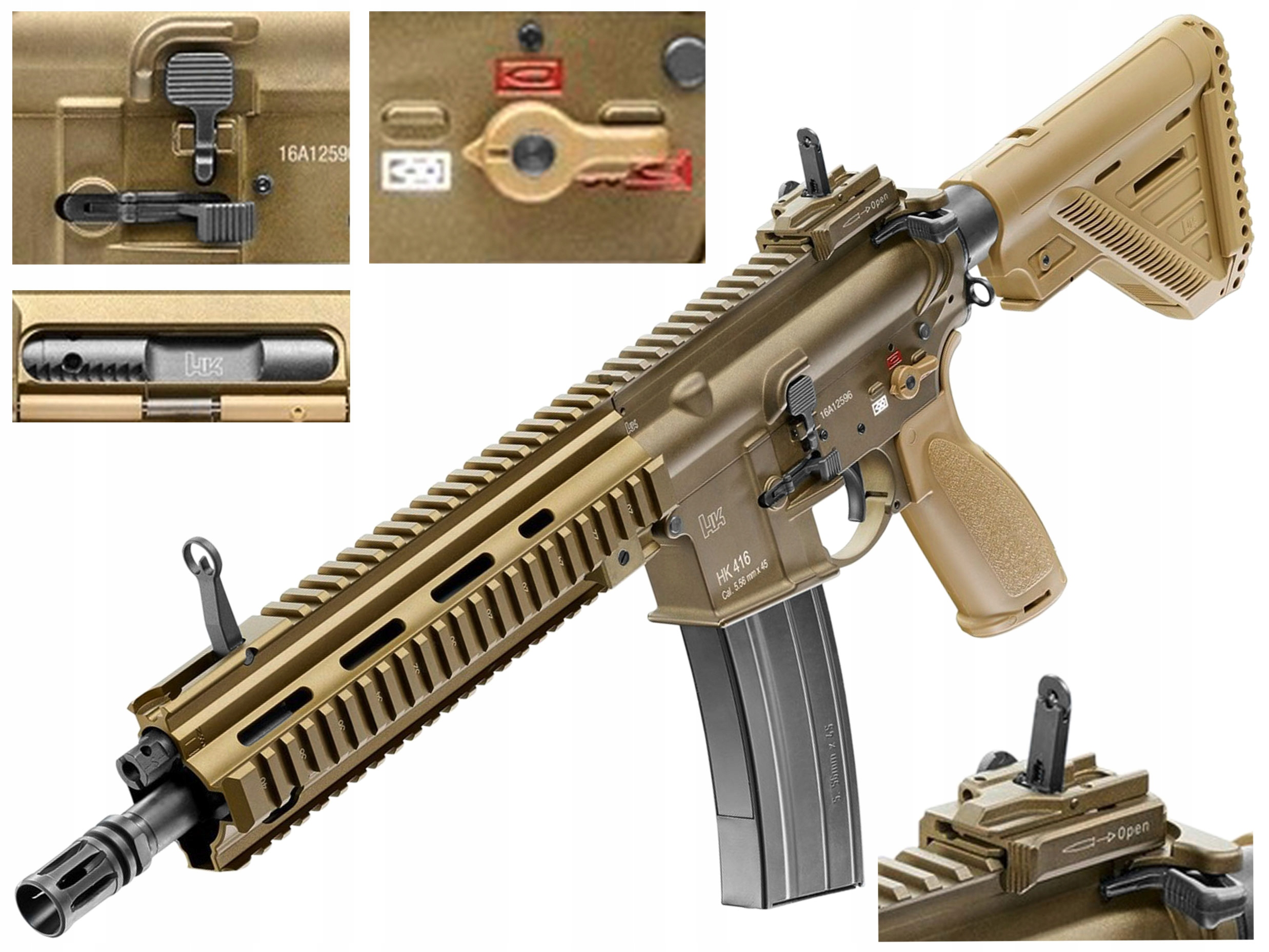 Airsoft -  Asg Heckler & Koch HK416 A5 RAL8000 GG