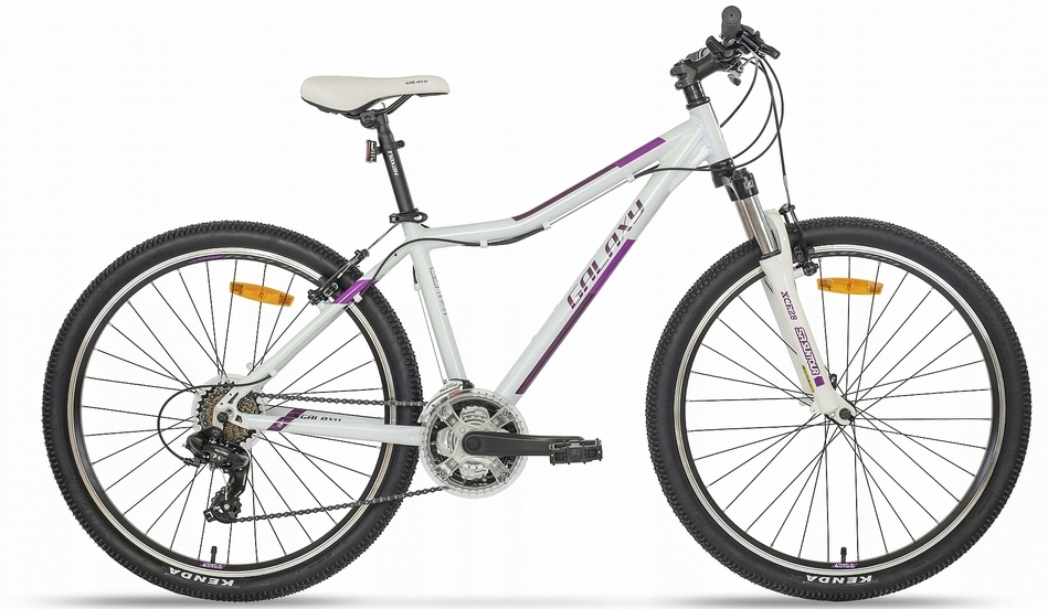 Horský bicykel - Galaxy vensa bike S.16 alum. White-purple