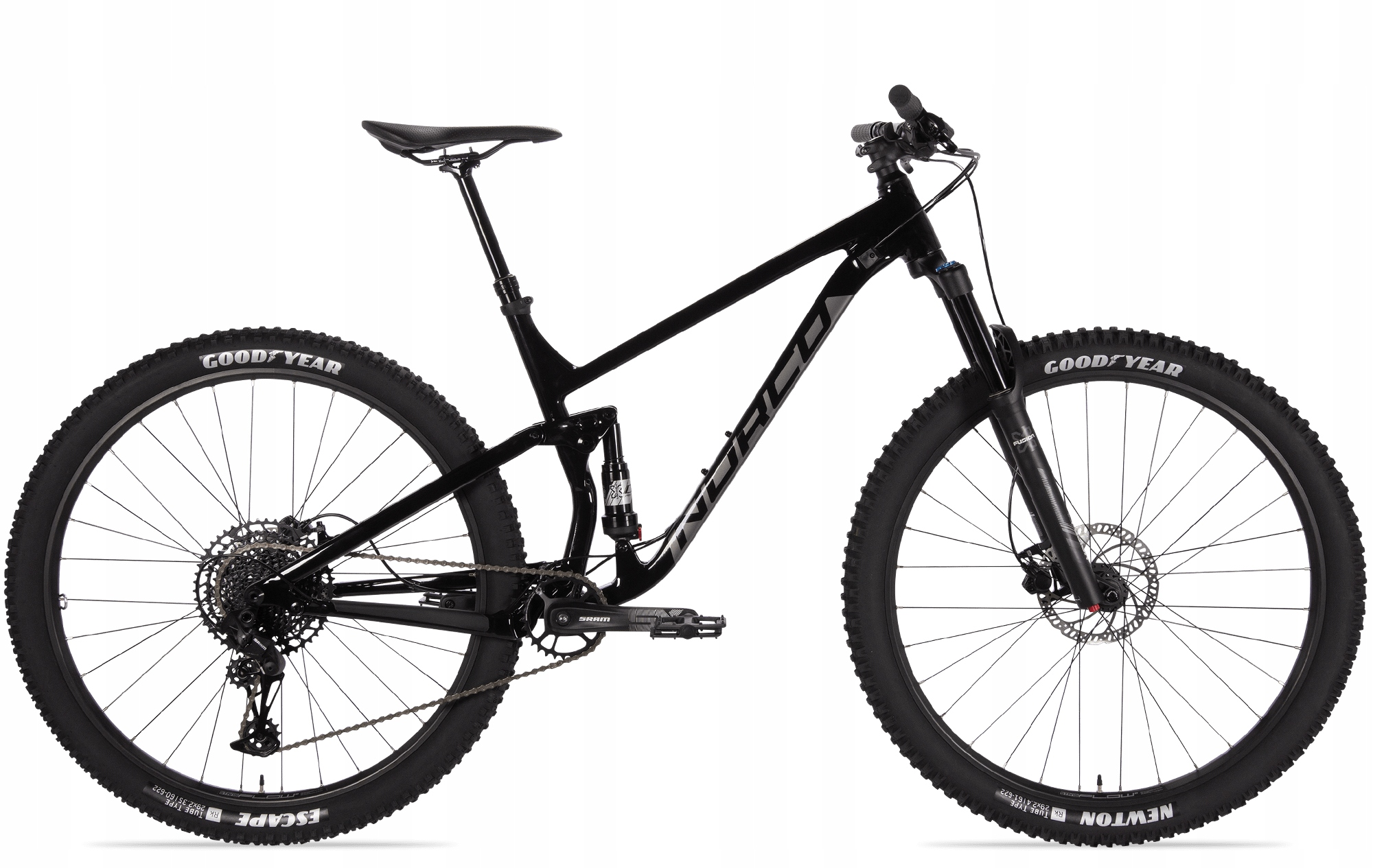 Horský bicykel - Bike Trail Enduro Norco Fluid FS 3 Black / Charco L